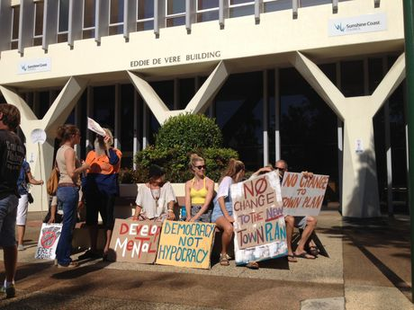 Residents protest Sunshine Coast Council's regional planning scheme changes