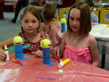 Craft workshop held at the Bundaberg Library.