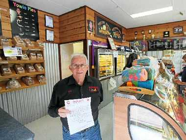 Old Fernvale Bakery owner Bill Rose.