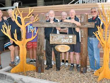 BRANCHING OUT: The CARV Men's Shed crew built a display for the 25-year celebrations.