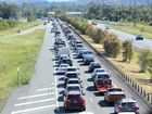 Traffic on the Bruce Highway was chaos as holidaymakers made their way home after Easter. Nicola Brander / Sunshine Coast Daily