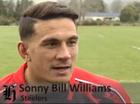 Sonny Bill Williams straps on rugby boots