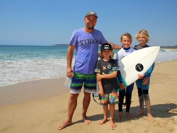 Day one of Wahu Surfer Groms Comp at McCauleys Beach.