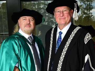 UK comedian Bill Bailey received an honorary doctorate from the University of the Sunshine Coast.