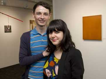 University of Southern Queensland art students Briana Paridas and Brodie Taylor host exhibition.