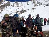 HAVING the flu during the holiday of a lifetime has seen five former Byron Bay High School students avoid possible death in the Nepalese avalanche.