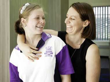 Studying together at USQHub@Maryborough are Francesca Swindells and her 15-year-old daughter Vanessa.