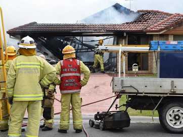 A house has been destroyed by a fire on Cutler Street, Caboolture.
