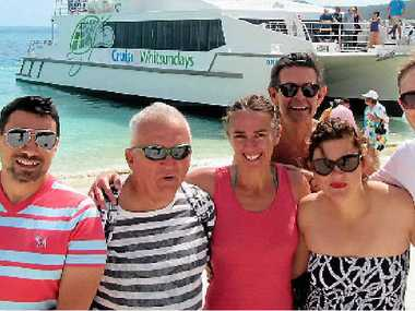 NEW OPPORTUNITIES: Mario Paez, Rod Stringer, Louise Terry, Warren Loy, Cassandra Liebeknech and Nick Munro took a trip to Whitehaven Beach while they were in the Whitsundays for the Gay And Lesbian Tourism Australia (GALTA) annual general meeting earlier this month.