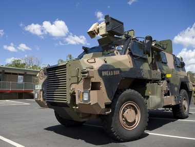 A Bushmaster protective mobility vehicle.
