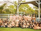 Caution nudity: students show some cheek for charity