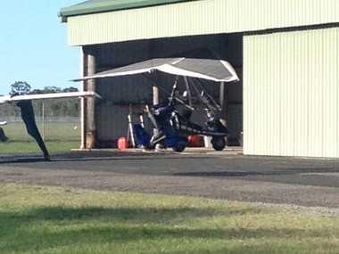 The aircraft at Maryborough Airport.