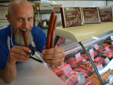 CLASSIC: Kingaroy butcher Fritz Kutzer is hoping judges will see the value of his classic family recipe in this year's Wurst Off.