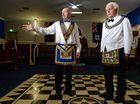 Les Hicks and Bruce Arnol at Masonic Lodge Tweed Heads. Photo: John Gass / Tweed Daily News