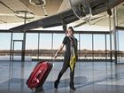 Kathryn Barnett is ready to fly from Brisbane West Wellcamp airport. Friday, Oct 24, 2014 . Photo Nev Madsen / The Chronicle