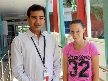 GREAT RECOVERY: Townsville Mater Hospital heart surgeon Dr Sumit Yadav has given Sarina girl Emily Bradford the all-clear, after she underwent heart surgery.