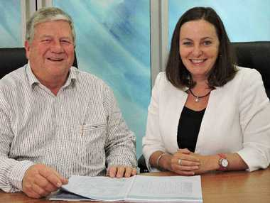 TOP HEALTH: Colin Meng and Clare Douglas gave a healthy report for Mackay Hospital Health Service.