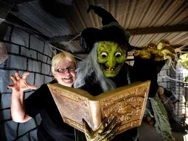 FRIGHT NIGHT: Sonya Richards' home at Kawana will be decorated with all things ghostly and ghoulish to celebrate Halloween next Friday.
