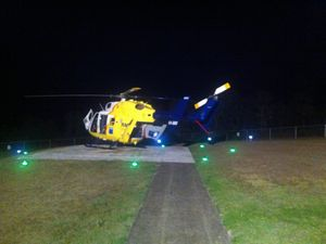 RESUCE: RACQ CareFlight airlifted a teen from Nanango to Brisbane following a car crash overnight. Photo Contributed