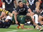 SHAUN Johnson led New Zealand to an emphatic 30-12 victory over Australia in their Four Nations opener last night at Suncorp Stadium.