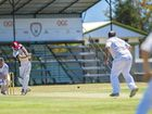 BIG HIT: Yaralla's Dylan Cross during the Yaralla v Rockhampton Brothers cricket match at the Yaralla Oval.