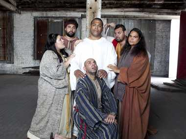 The cast of the ABC's new sketch series, Black Comedy.