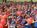 STUDENTS from various schools around the Gympie region had something special in common today – red t-shirts for Day for Daniel.