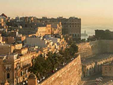 Valletta shines as it basks in the early morning sunshine.