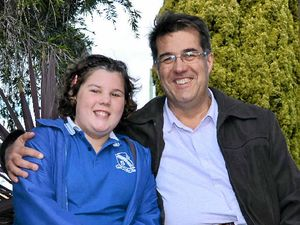 GOOD CAUSE: Caitlyn's Meiklejohn's (with her father Neil) brush with cancer has left her passionate about raising awareness and fundraising for others.