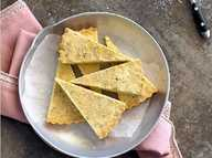 Dan and Steph's lemon thyme shortbread.