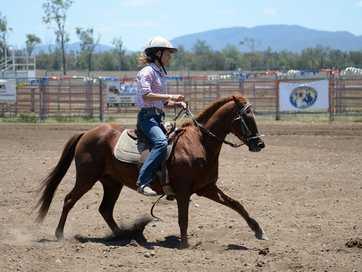 Barrel racing at Gavial Creek Bulls and Barrels event on the weekend