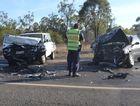 Head on collision west of Chinchilla. Photo Chris Honnery / Chinchilla News