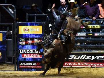 "CABOOLTURE bull riding fans have witnessed the world's ""greatest"" bull rider for the first time in Australian history - and he did not disappoint."