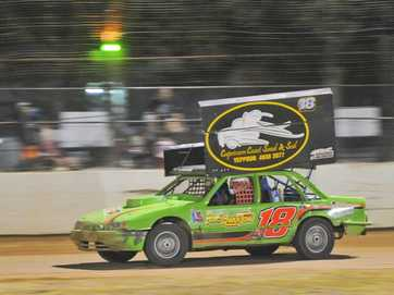 Gladstone Showgrounds hosted a speedway event on Saturday.