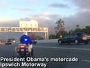 Obama's motorcade does the run from Amberley to Brisbane