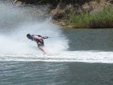 The Gladstone Barefoot Waterskiing Tournament was held on the Calliope River on Saturday.