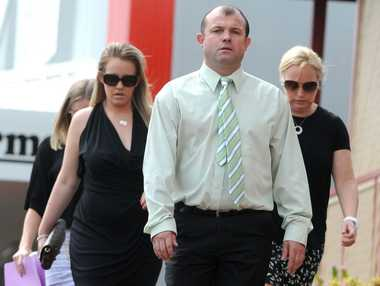 Craig Field, appearing in Lismore Court charged with a fatal king-hit on Tweed cattle farmer Kelvin Kane.