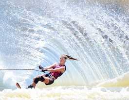 CQ water skiing at Lake Victoria near Biloela