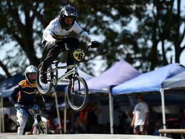 Hundreds of riders competed in the Caboolture BMX Club's Snakepit Challenge at Centenary Lakes.