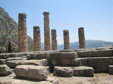 The remnants of the Temple of Apollo.