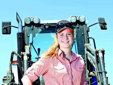 McLEOD'S DAUGHTER: Young farmer, Jorja McLeod.
