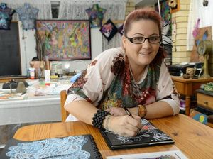 Michelle Draper was the Australian winner of the Red Bull Doodle Art competition, which gained her the chance to travel to South Africa to contest the international competition where she was awarded a commendation.