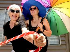 Senior Matters, (L-R) Janet Findlay and Joy Winnel of Babbling Trillbillys get ready for their Xmas show 'Janet and Joy of Xmas'.