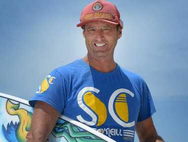 SURF MARATHON: Andy Cross has been surfing at each of the 129 NSW beaches that have surf lifesaving clubs this year.