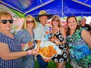 Seafood Festival goers enjoyed sunshine, great music and great food on Sunday at Gladstone Marina.