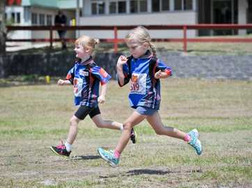 Gladstone's Little Athletics events on Saturday are busier this season with plenty of new members.
