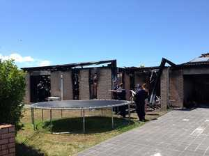 Fire damaged house in Piggott St, Bellmere Photo Brad Penfold / Caboolture News