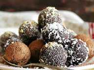 Chocolate truffles in combination with salted caramel and chocolate tarts provide a sweet indulgence
