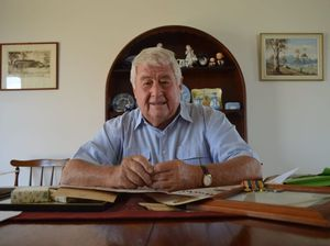 A LITTLE BIT OF HISTORY: South Grafton resident Colin Brown looks over his father's records and memorabillia from World War 1.