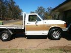 A Ford F250 ute was stolen from a Helidon home.